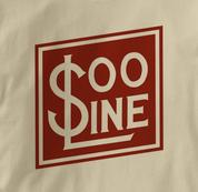 SOO Line T Shirt Railway Logo TAN Railroad T Shirt Train T Shirt Railway Logo T Shirt