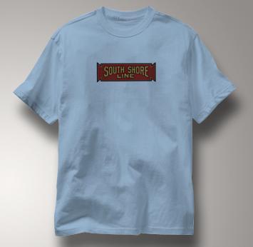 South Shore Line T Shirt Vintage BLUE Railroad T Shirt Train T Shirt Vintage T Shirt