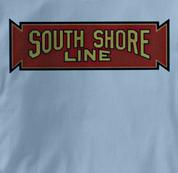 South Shore Line T Shirt Vintage BLUE Railroad T Shirt Train T Shirt Vintage T Shirt
