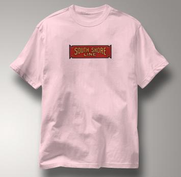 South Shore Line T Shirt Vintage PINK Railroad T Shirt Train T Shirt Vintage T Shirt