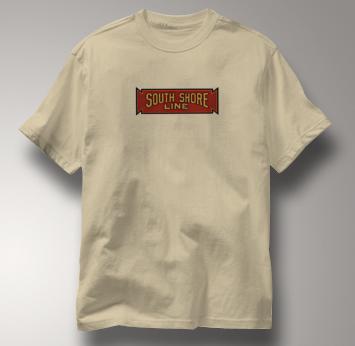 South Shore Line T Shirt Vintage TAN Railroad T Shirt Train T Shirt Vintage T Shirt