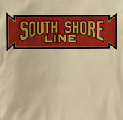 South Shore Line T Shirt Vintage TAN Railroad T Shirt Train T Shirt Vintage T Shirt