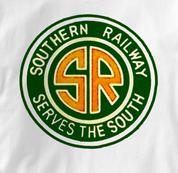 Southern Railway T Shirt Serves the South WHITE Railroad T Shirt Train T Shirt Serves the South T Shirt