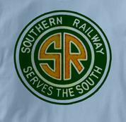 Southern Railway T Shirt Serves the South BLUE Railroad T Shirt Train T Shirt Serves the South T Shirt