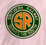 Southern Railway T Shirt Serves the South PINK Railroad T Shirt Train T Shirt Serves the South T Shirt