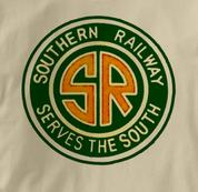 Southern Railway T Shirt Serves the South TAN Railroad T Shirt Train T Shirt Serves the South T Shirt