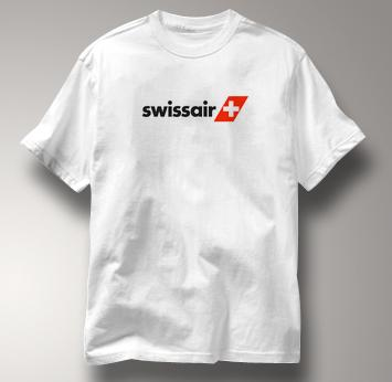 Swissair T Shirt WHITE Airlines T Shirt Aviation T Shirt