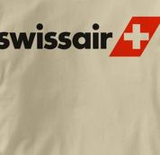 Swissair T Shirt TAN Airlines T Shirt Aviation T Shirt