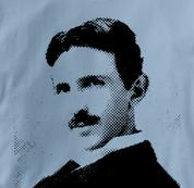Nikola Tesla T Shirt Physicist BLUE Science T Shirt Physicist T Shirt Geek T Shirt