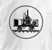 Tom Thumb T Shirt WHITE Railroad T Shirt Train T Shirt B&O Museum T Shirt