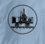 Tom Thumb T Shirt BLUE Railroad T Shirt Train T Shirt B&O Museum T Shirt