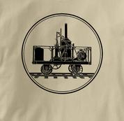 Tom Thumb T Shirt TAN Railroad T Shirt Train T Shirt B&O Museum T Shirt