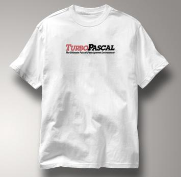 Turbo Pascal Computer T Shirt WHITE Geek T Shirt