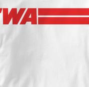 TWA T Shirt WHITE Airlines T Shirt Aviation T Shirt