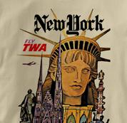 TWA T Shirt New York TAN Airlines T Shirt Aviation T Shirt New York T Shirt