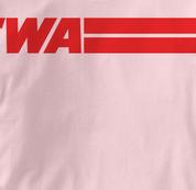 TWA T Shirt PINK Airlines T Shirt Aviation T Shirt