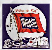 Wabash T Shirt Follow the Flag WHITE Railroad T Shirt Train T Shirt Follow the Flag T Shirt