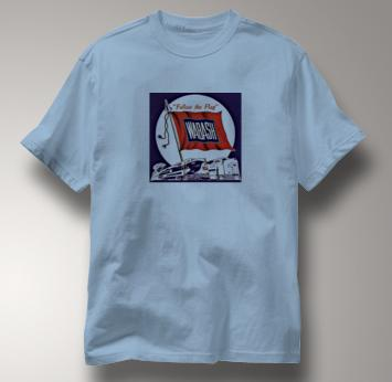 Wabash T Shirt Follow the Flag BLUE Railroad T Shirt Train T Shirt Follow the Flag T Shirt