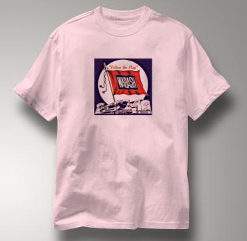 Wabash T Shirt Follow the Flag PINK Railroad T Shirt Train T Shirt Follow the Flag T Shirt
