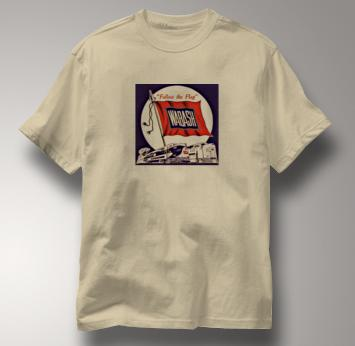 Wabash T Shirt Follow the Flag TAN Railroad T Shirt Train T Shirt Follow the Flag T Shirt