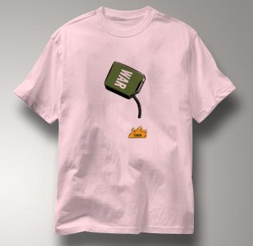 Peace T Shirt War To Terror PINK War To Terror T Shirt