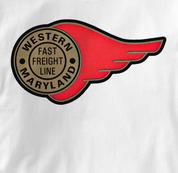 Western Maryland Railway T Shirt Fast Freight WHITE Railroad T Shirt Train T Shirt B&O Museum T Shirt Fast Freight T Shirt