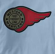 Western Maryland Railway T Shirt Fast Freight BLUE Railroad T Shirt Train T Shirt B&O Museum T Shirt Fast Freight T Shirt