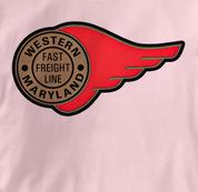 Western Maryland Railway T Shirt Fast Freight PINK Railroad T Shirt Train T Shirt B&O Museum T Shirt Fast Freight T Shirt