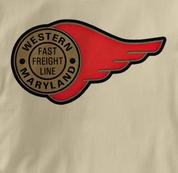 Western Maryland Railway T Shirt Fast Freight TAN Railroad T Shirt Train T Shirt B&O Museum T Shirt Fast Freight T Shirt