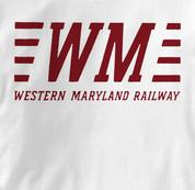 Western Maryland Railway T Shirt WM WHITE Railroad T Shirt Train T Shirt B&O Museum T Shirt WM T Shirt