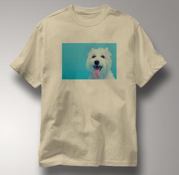 Westie T Shirt Portrait West Highland White Terrier TAN Dog T Shirt Portrait West Highland White Terrier T Shirt