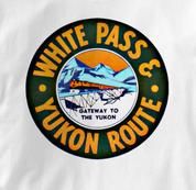 White Pass & Yukon T Shirt Vintage WHITE Railroad T Shirt Train T Shirt Vintage T Shirt