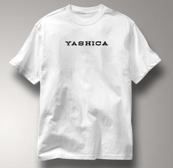 Yashica Camera T Shirt Vintage Logo WHITE Vintage Logo T Shirt