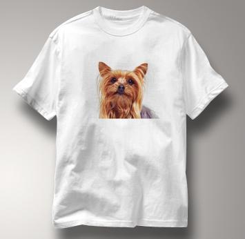 Yorkie T Shirt Portrait Yorkshire Terrier WHITE Dog T Shirt Portrait Yorkshire Terrier T Shirt