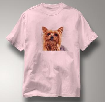 Yorkie T Shirt Portrait Yorkshire Terrier PINK Dog T Shirt Portrait Yorkshire Terrier T Shirt
