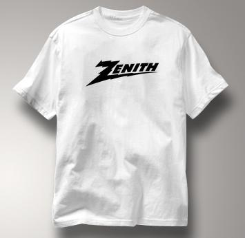 Zenith T Shirt Classic Logo WHITE Gear T Shirt Classic Logo T Shirt