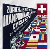 Bicycle T Shirt Zurich 1936 WHITE Cycling T Shirt Zurich 1936 T Shirt