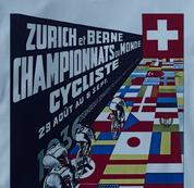 Bicycle T Shirt Zurich 1936 BLUE Cycling T Shirt Zurich 1936 T Shirt