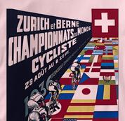 Bicycle T Shirt Zurich 1936 PINK Cycling T Shirt Zurich 1936 T Shirt